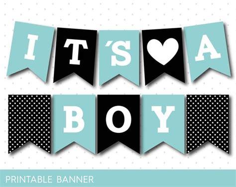 printable banner letters blue black and mint blue baby boy banner pb 53 js digital paper