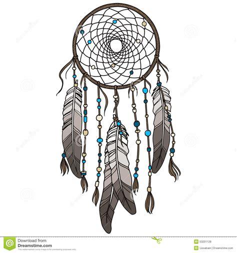 dream catcher tattoo vector native american indian dreamcatcher stock vector image