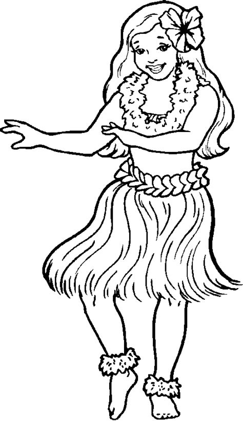 hawaiian lei coloring pages