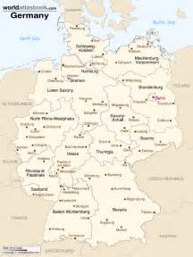 Germany Map With Cities by Map Of Germany With States Amp Cities World Atlas Book