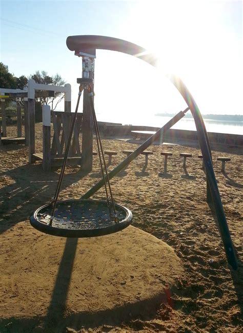 saucer swing barwon heads playground at frank ellis reserve bellarine