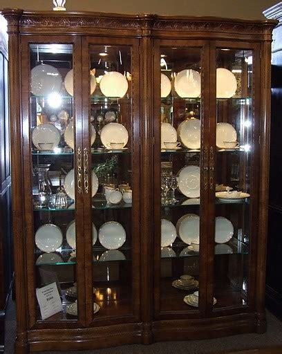 All Glass China Cabinet henredon glass china cabinet traditional china cabinets and hutches houston