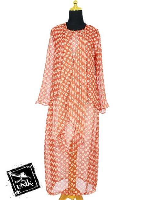 Baju Batik Sifon baju batik gamis modern sifon motif bunga bunga ceplok gamis muslim murah batikunik