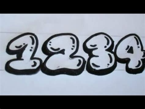 draw numbers bubble balloon numbers youtube