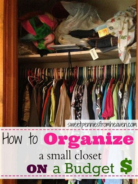 How To Organize A Closet On A Budget how to organize even the smallest closet on a budget