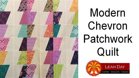 How To Make A Patchwork Quilt Out Of Baby Clothes - how to make a modern chevron patchwork quilt easy