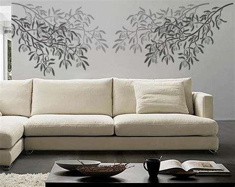 disegni per pareti soggiorno stencil da muro pareti decorare pareti con stencil