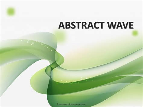 Free Green Wavy Powerpoint Template Green Powerpoint Templates Free