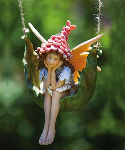 proper pixie petal fairy figurine backyards look at and