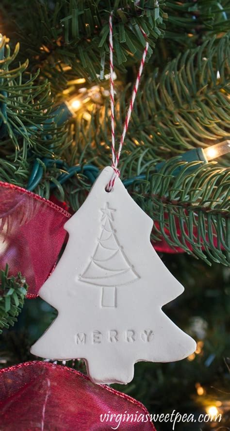 how to make simple clay christmas trees easy clay ornaments sweet pea