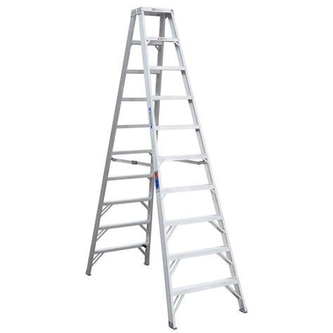 Home Depot 10 Foot Ladder by Werner 10 Ft Aluminum Step Ladder With 300 Lb Load