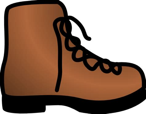 simple brown boot clip art at clker vector clip art - Cartoon Boat Brown