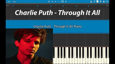 charlie puth through it all charlie puth through it all piano tutorial voicenotes