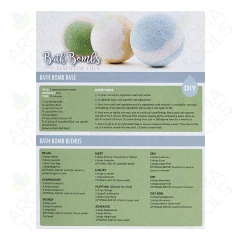Galaxy Bathbombs With Essential Oils quot bath bombs using essential oils quot recipe tear pad 25 sheets