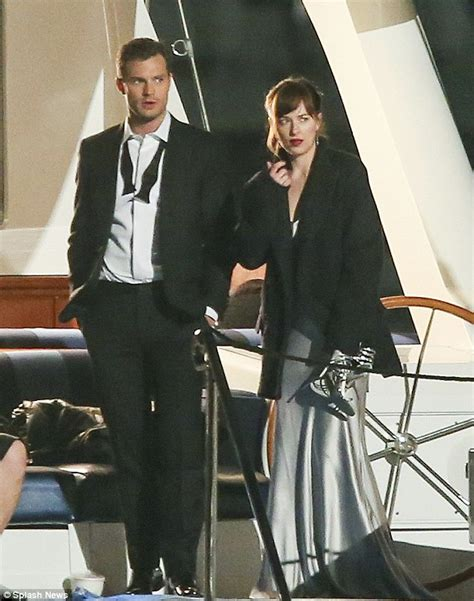 fifty shades darker filming now dakota johnson and jamie dornan film fifty shades darker