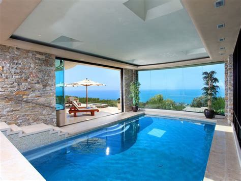 homes with indoor pools modern indoor pool with view saved from http www