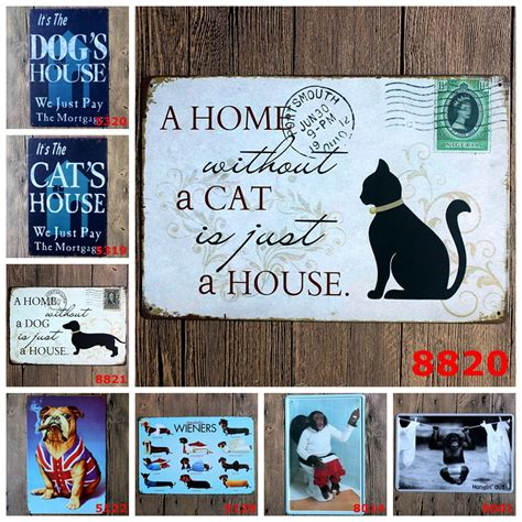 Signage Cat Anjing Kucing Pet A House Is Not A Home Without Paw popular ironic posters buy cheap ironic posters lots from china ironic posters suppliers on