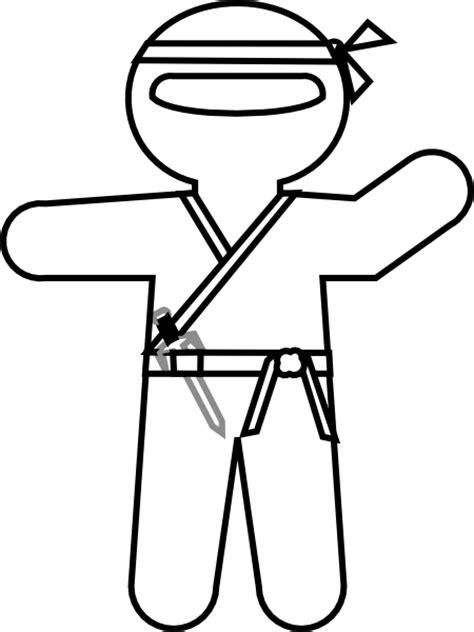ninja outline coloring page cartoon ninja outline clip art at clker com vector clip
