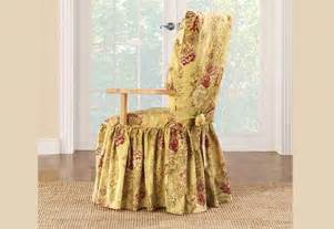 Dining Room Arm Chair Covers Sure Fit Ballad Bouquet Arm Dining Room Chair Slipcovers