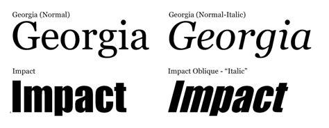 non printable fonts adding an italic oblique effect to a non italic font