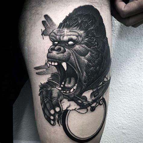 king kong tattoo 50 king kong designs for furious gorilla ink