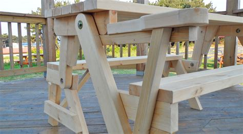 bench folds into picnic table this all in one picnic table and bench is diy at it s