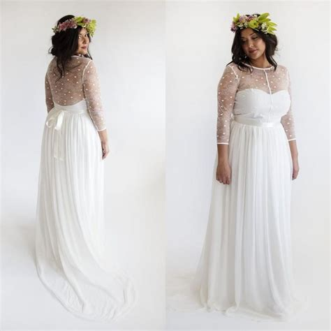 Ball Gown Dresses Plus Size Boho Wedding Dress 2015 Beach