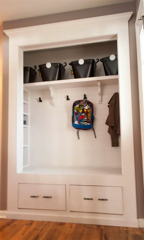 Mudroom Closet Designs by Always Chasing Mudroom Closet Reveal