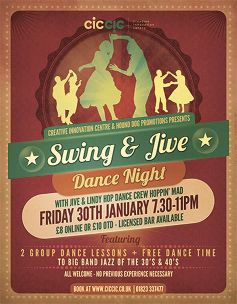 swing nights swing jive dance night creative innovation centre cic