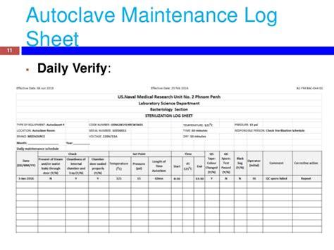 autoclave log template gallery templates design ideas