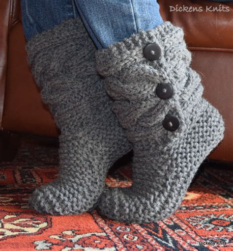 cable knit slipper boots soft wool cable knit slippers knit cable slipper boots cable