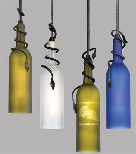 lights wine bottle 50 coolest diy pendant lights