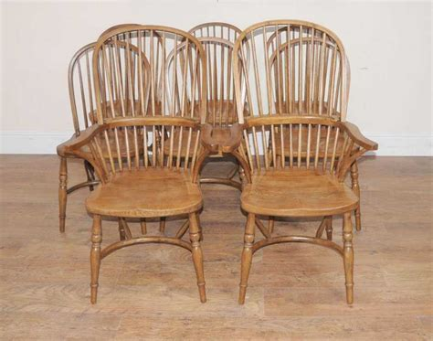 8 Oak Windsor Kitchen Dining Chairs Farmhouse Chair Dining Kitchen Chairs