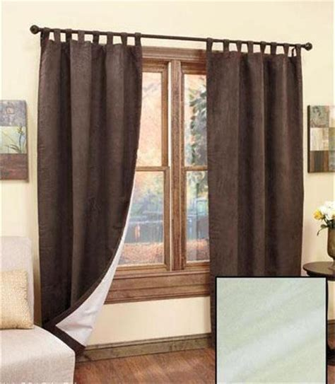 tab top thermal insulated curtains insulated thermal backed sueded tab top window treatment