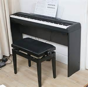 electric piano stand and bench yamaha p85 digital piano l85 stand and adjustable bench