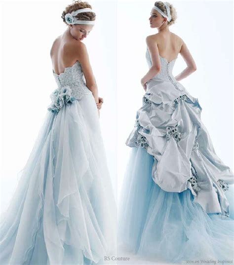 Light Blue Wedding Dress by Wedding In Color By Rs Couture Wedding Inspirasi