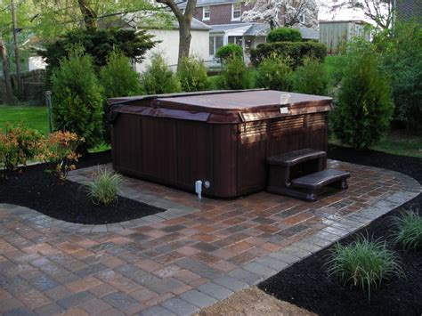 tub patio ideas paver patio ideas with useful function in stylish designs