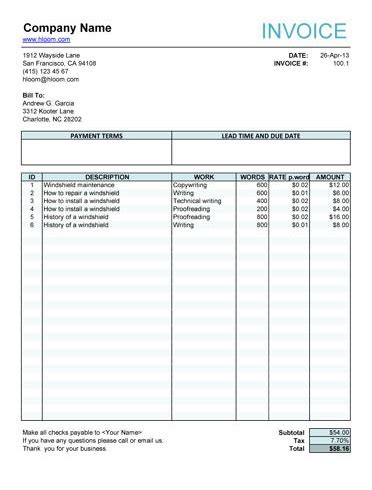 fillable invoice template pdf free fillable invoice form free invoice templates