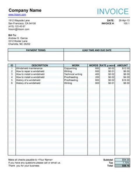 free fillable invoice template free fillable invoice form free invoice templates