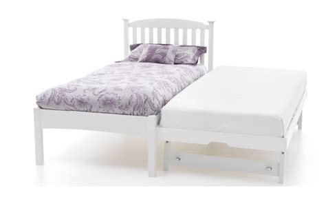 Low Single Bed Frames Serene Eleanor 3ft Single White Wooden Guest Bed Frame With Low Footend By Serene Furnishings