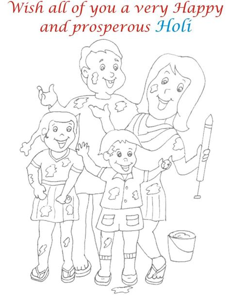 Holi Coloring Printable Pages For Kids Holi Colouring Pages