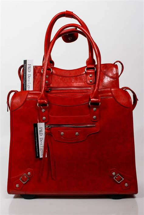 P Da Bag laptop designer bags on wheels p d collection black