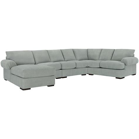 light blue sectional with chaise city furniture belair lt blue microfiber large left
