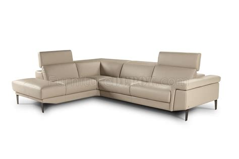 beige leather sectional sharon sectional sofa in beige premium leather by j m