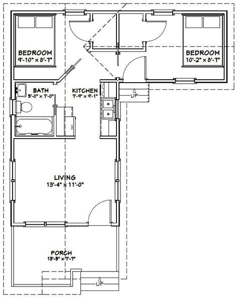 Tiny House Floor Plans Pdf 14x28 2 Bedroom 1 Bath Tiny Homes Pdf By