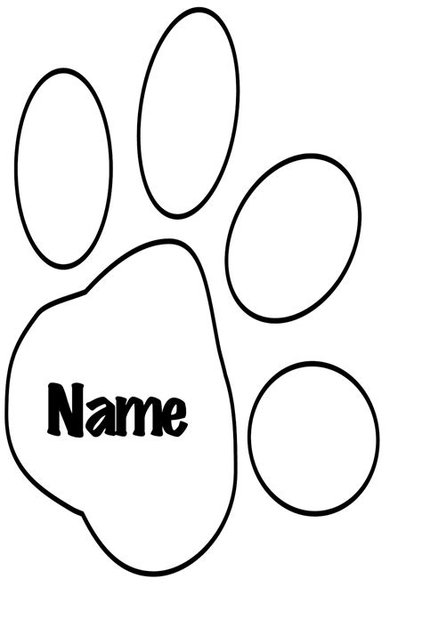 coloring page tiger paw paw print template cliparts co