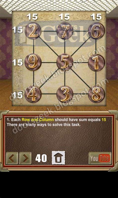 doors of revenge level 15 solution 100 doors of revenge level 40 doors geek