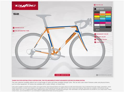 bike frame template cyfac launches custom paint configuration website bikerumor