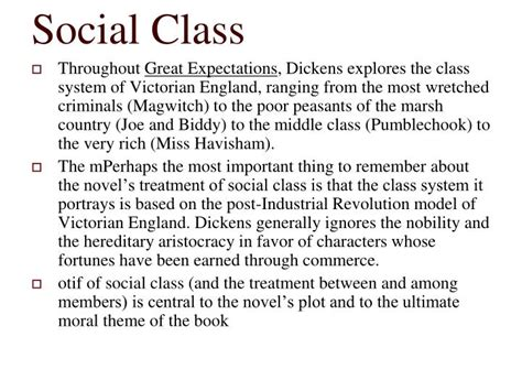 great expectations themes social class ppt great expectations powerpoint presentation id 2422834