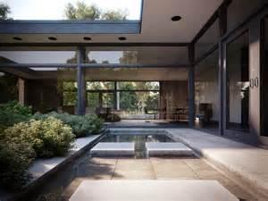 courtyard house casa patio philip johnson iispaces